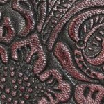 Embossed flower prints
