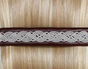 Sami hair barrette in leather color Oxblood
