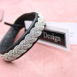 Sami bracelet in Black reindeer leather
