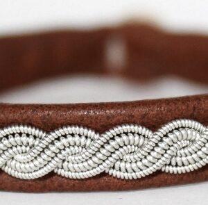Sami bracelet Burr in color Cognac