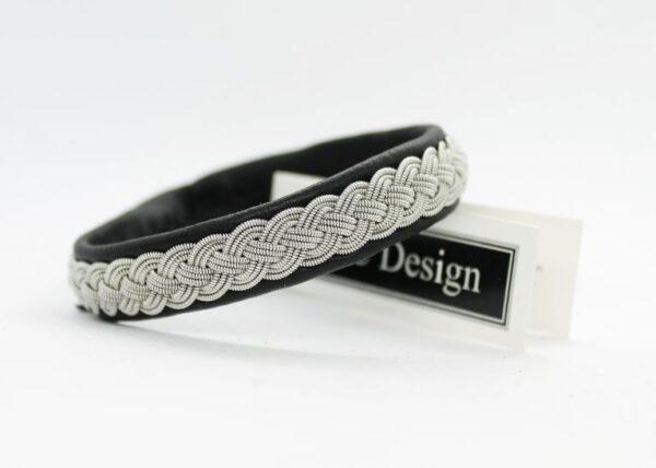 Sami bracelet FRIGG in Black reindeer leather