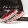 Sami bracelets in leather color Red