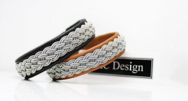 Sami bracelet in reindeer leather.