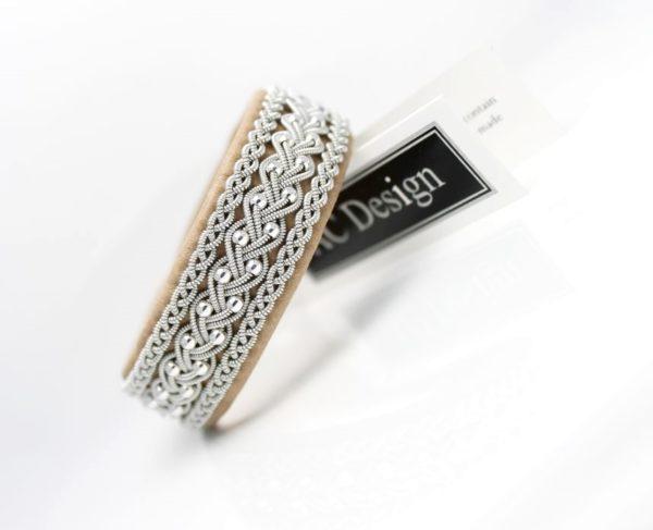 Sami bracelets in reindeer leather