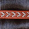 Sami leather hair barrette