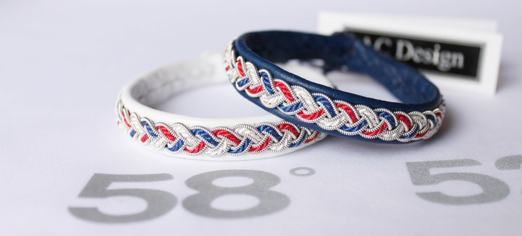Patriotic Sami bracelets America, France, Norway, United Kingdom