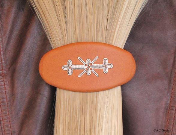 Hair barrette handmade in Sweden by AC Design