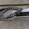 Wrap bracelet in reindeer leather