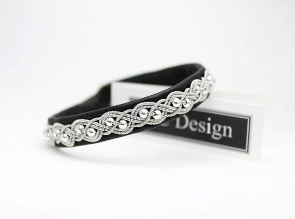 Sami bracelet UNN in Black reindeer leather