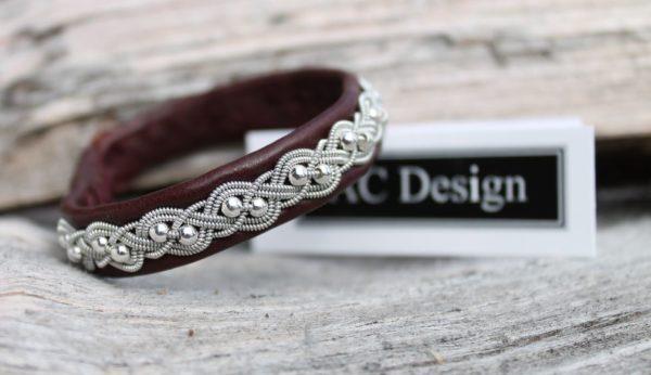 Sami bracelet *Unn in Oxblood reindeer leather.
