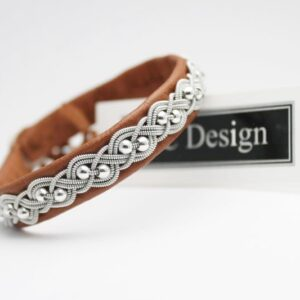 Sami bracelet UNN in Nature brown reindeer leather
