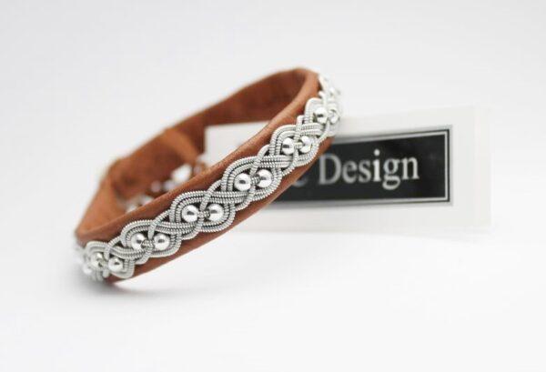 Sami bracelet UNN in Nature brown reindeer leather