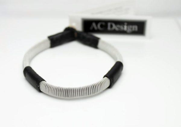 Leather bracelet FREJ, made in Sweden.