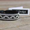 Sami bracelet RIST in black reindeer leather.