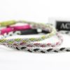Sami anklets in Black, Pearl-pink and Green wire.