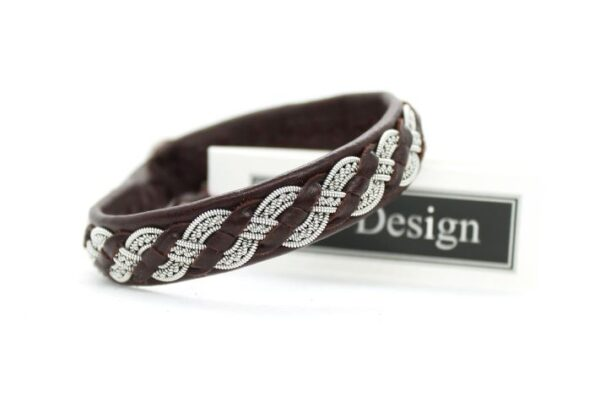 Sami bracelet Rusla in reindeer leather color Oxblood