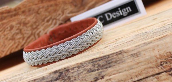 Sami bracelet Bivur in Nature Brwon reindeer leather