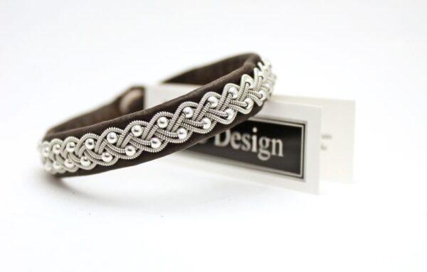 Sami bracelet SELA in dark brown reindeer leather