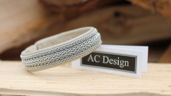 Sami bracelet Vinge in leather color Pearl Beige