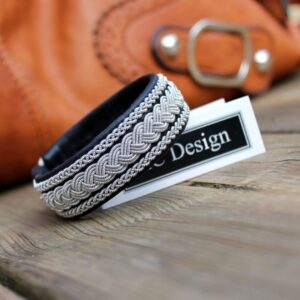 Sami Bracelet HOLT in reindeer leather color Black