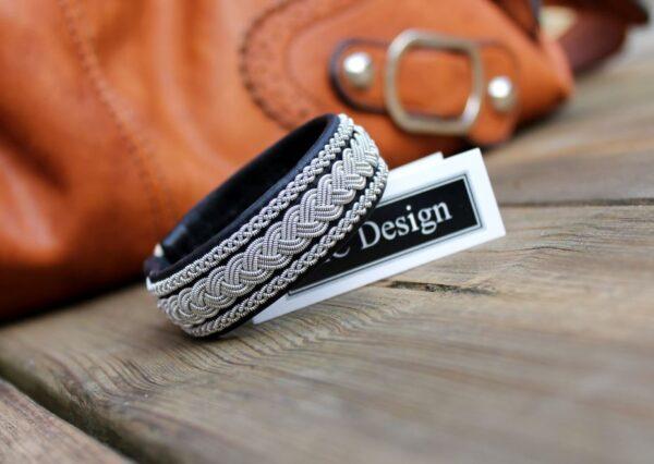 Sami Bracelet HOLT in reindeer leather color Black